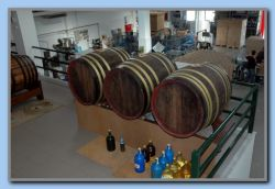 Barrels with 3 & 5 star Samos brandy