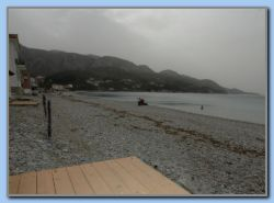 Tarsanas beach - One person bathing!