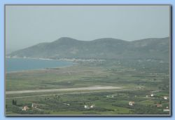View from the fortification to the airport and Ireon