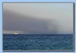 Fire in Turkey seen from Kokkari