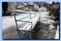 A very cold bench!