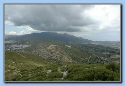 Following day: Changing again. View from the top of Mt. Kastro.