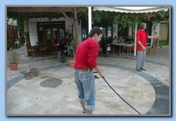 Cleaning outside