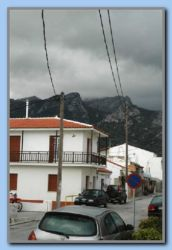 Dark clouds over the mountain