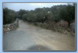 The roads in the hills are now small rivers (Sotiria)