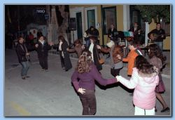 31 Dec. Dancing in the street.