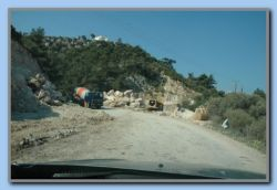 Road work in Kedros