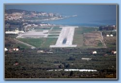 'Approaching' runway 09, Samos Airport