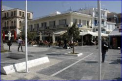 Outdoor cafe at Pythagoras Square, Samos town.