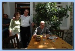 The host of the Beer, Eirini and Artemis with Costas