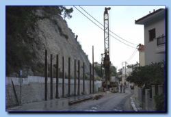 Securing the hillside in Avlakia.