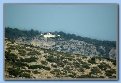 Moni Zoodochou Pigis seen from Lykou Laka (6Km away)